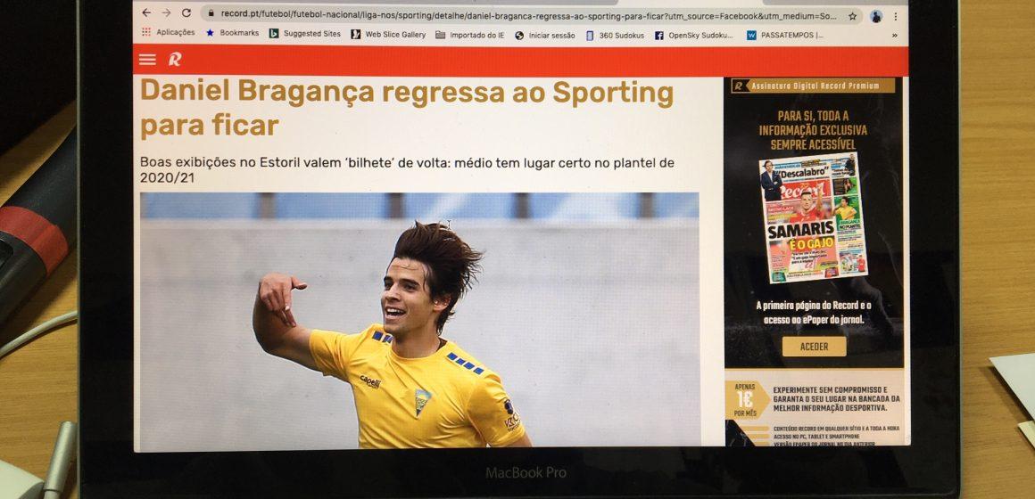 Manchete na imprensa nacional: Bragança regressa a casa