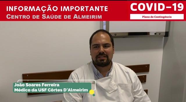 VÍDEO – INFORMAÇÃO IMPORTANTE / COVID-19 – Centro de Saúde de Almeirim
