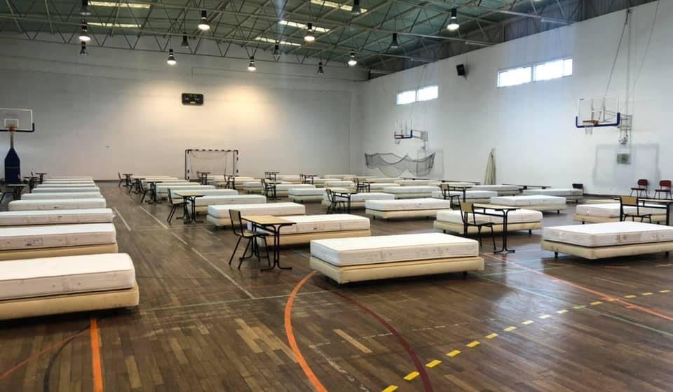 Hospital de campanha montado em Almeirim e Fazendas