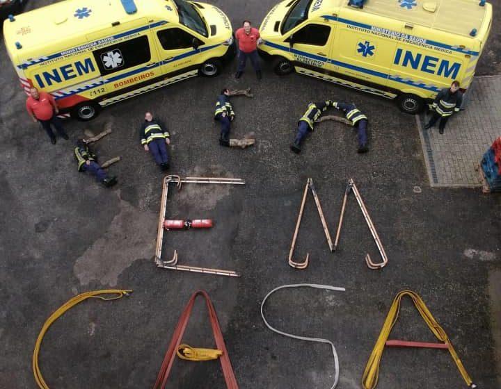 Bombeiros Voluntários de Almeirim criam recado humano