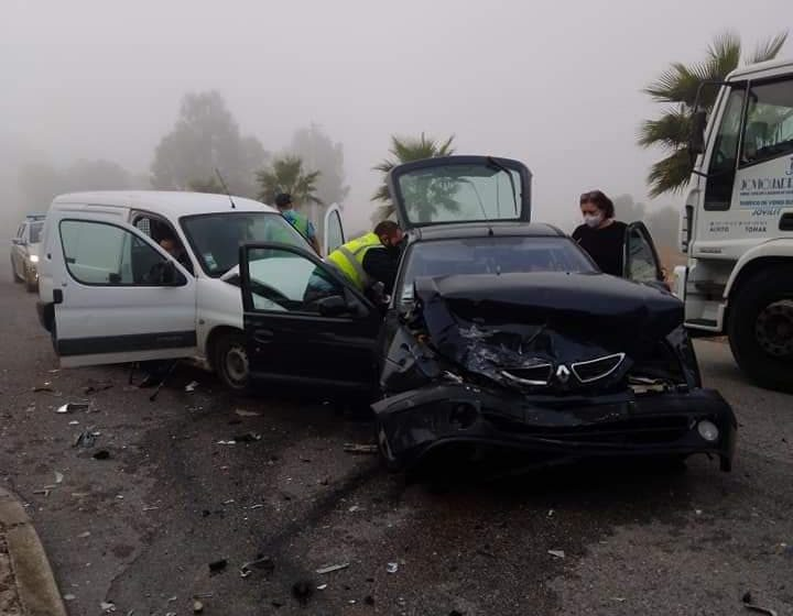 Quatro feridos em acidente em Almeirim