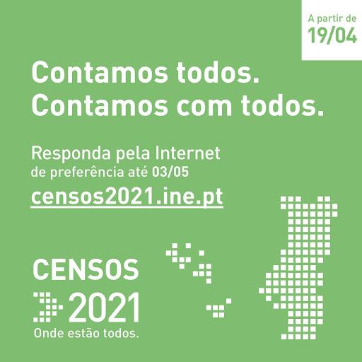 3 de maio é o último dia em que a população do concelho pode responder aos Censos 2021