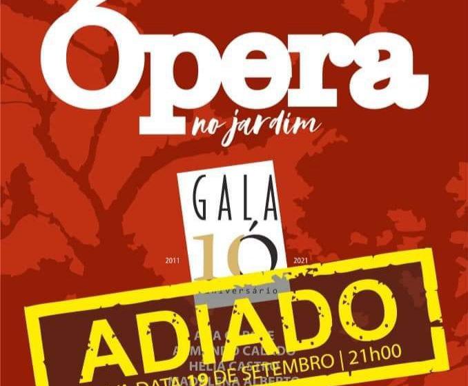 Gala de Ópera adiada